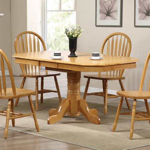 Sunset Trading 5pc Clipped Edge Pedestal Dining Set With