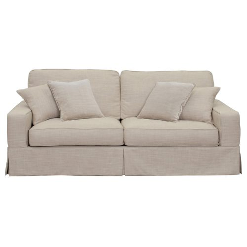 Americana Slipcovered Sofa – front view - SU-108500-466082