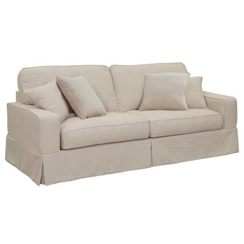 Americana Slipcovered Sofa – three-quarter view - SU-108500-466082