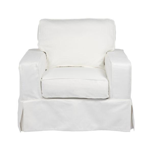 our emily chair living white slipcovered a room cover ektorp slipcover clark blekinge chairs