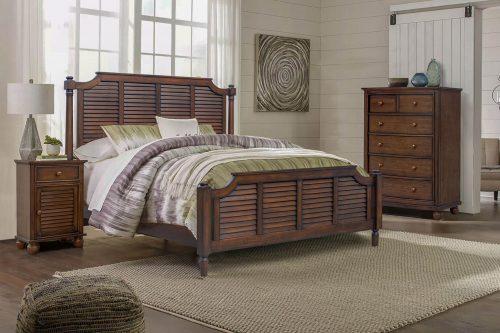 Chest - six drawers - bedroom scene - Bahama shutterwood - CF-1141-0158