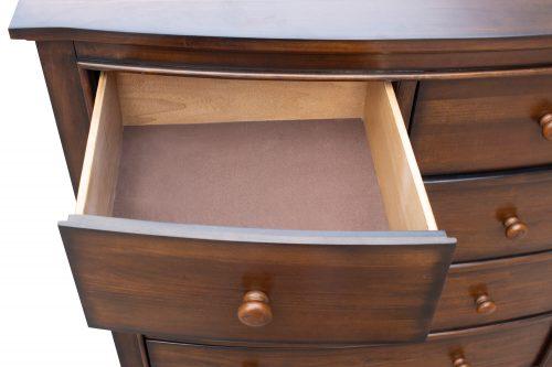 Chest - six drawers - small drawer open - Bahama shutterwood - CF-1141-0158