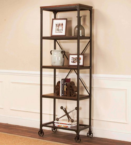 Rustic Elm Industrial Collection - Bookcase - Etagere CR-W3075-87