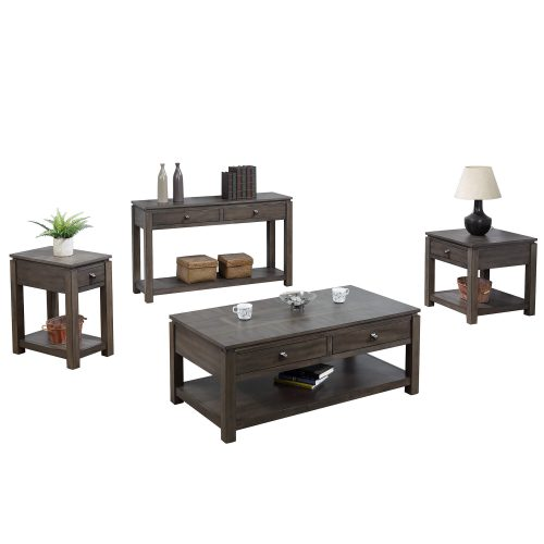 Shades of Grey Collection - end table - narrow end table - sofa console - coffee table DLU-EL1602-03-04-08