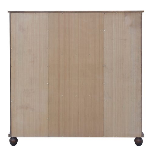Armoire with six drawers - back view - Bahama shutterwood - CF-1142-0158
