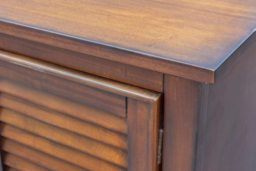 Armoire with six drawers - corner detail - Bahama shutterwood - CF-1142-0158