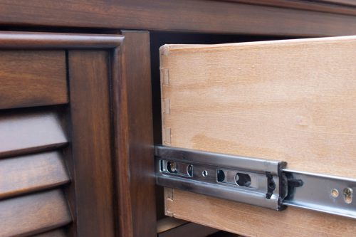 Armoire with six drawers - drawer hardware - Bahama shutterwood - CF-1142-0158