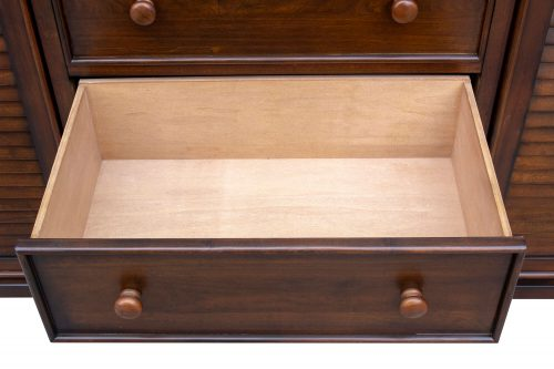 Armoire with six drawers - large drawer open - Bahama shutterwood - CF-1142-0158