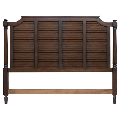 King size bed frame in Bahama Shutterwood - headboard back view - CF-1106-0158-KB