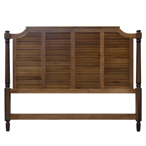 King size bed frame in Bahama Shutterwood - headboard front view - CF-1106-0158-KB