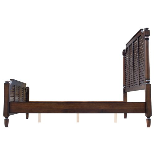King size bed frame in Bahama Shutterwood - side view - CF-1106-0158-KB