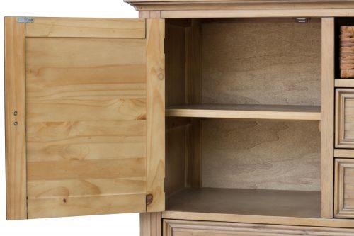Vintage Casual Dresser - side door open with shelf - CF-1230-0252