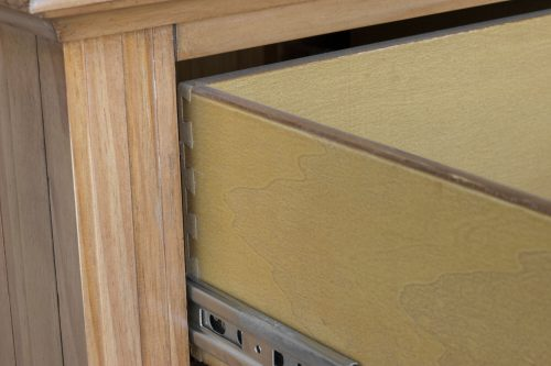 Vintage Casual Six Drawer Chest - drawer construction detail - CF-1241-0252