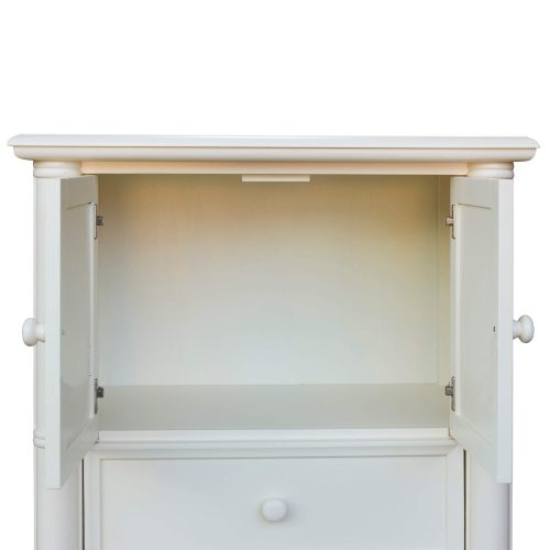 Ice Cream at the Beach Collection - Chest with four drawers - front view doors open - CF-1742-0111