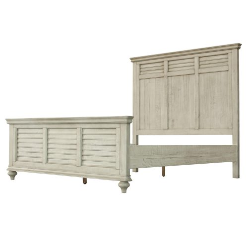 Shades of Sand Queen bed - side view - CF-2301-0489-QB
