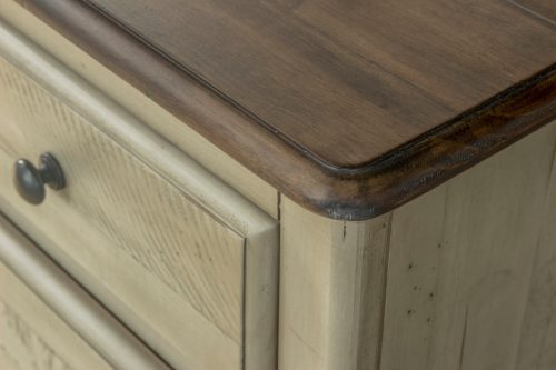 Shades of Sand - Six drawer Chest - top and side detail - CF-2341-0490