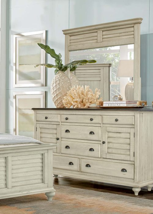 Shades of Sand dresser with mirror - bedroom scene - CF-2330_34-0490