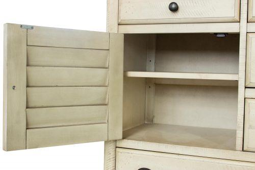 Shades of Sand dresser with mirror - door open - CF-2330_34-0490