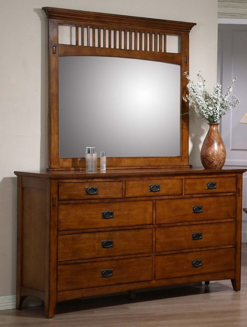 Tremont Collection - Dresser and mirror in room setting