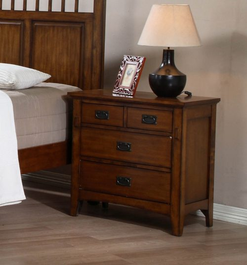 Tremont Collection - Nightstand in room setting-SS-TR750-NS