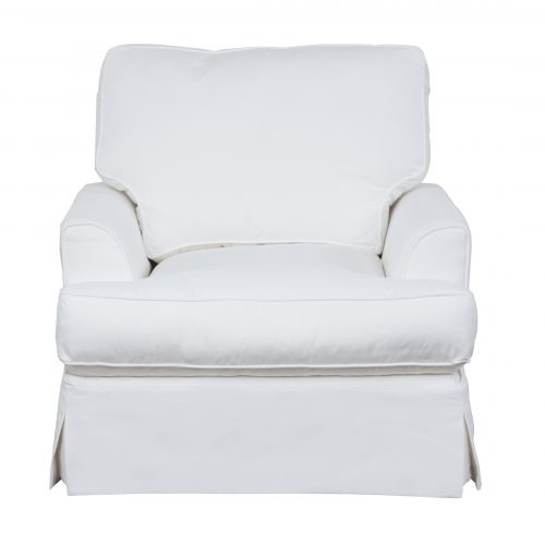 Ariana Slipcovered Chair - Performance White - front view - SU-78320-81
