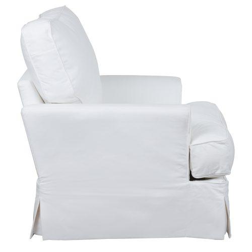 Ariana Slipcovered Chair - Performance White - side view - SU-78320-81