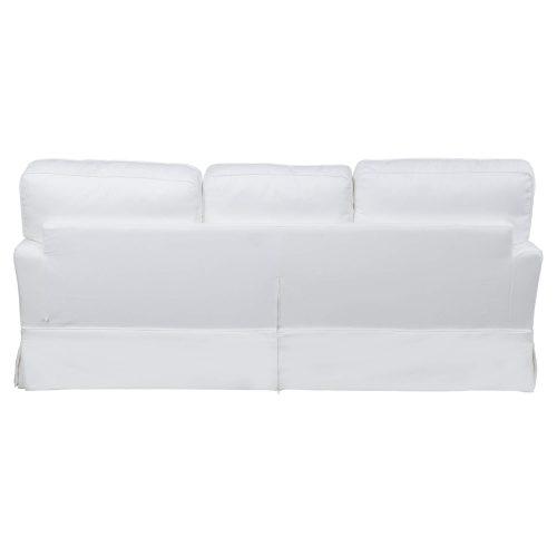 Slipcovered Sofa – Performance White - back view - SU-78301-81