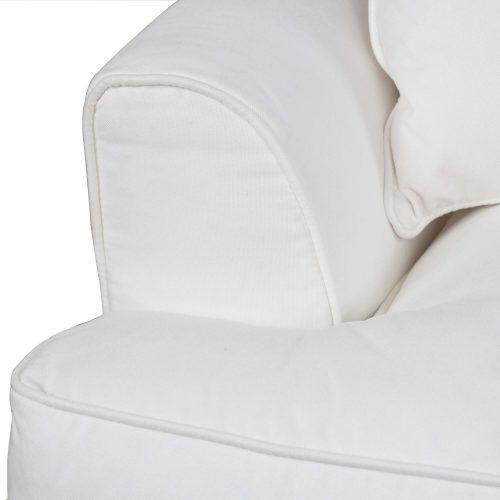 Slipcovered Sofa – Performance White - detail of cushions - SU-78301-81