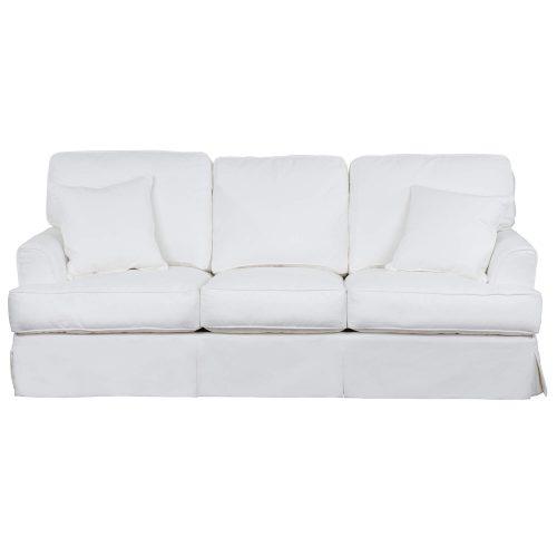 Slipcovered Sofa – Performance White - front view - SU-78301-81