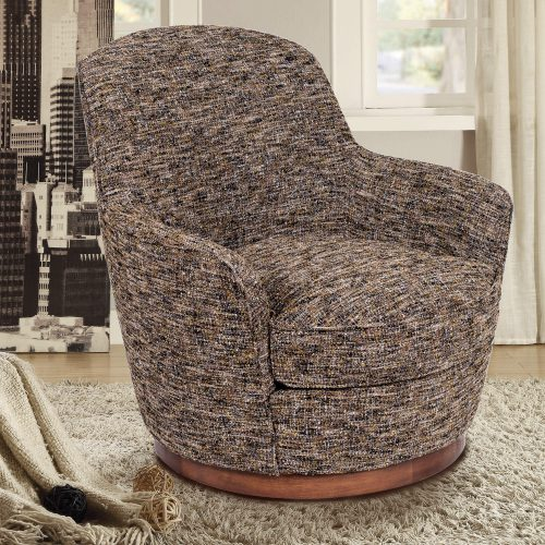 Heathered Black Brown Soft Tweed Swivel Chair - lifestyle SU-1705-93-871885