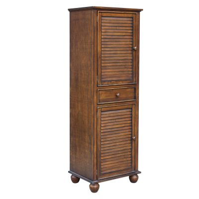 Tall Cabinet with Drawer - Bahama Shutterwood - three quarter view - CF-1145-0158