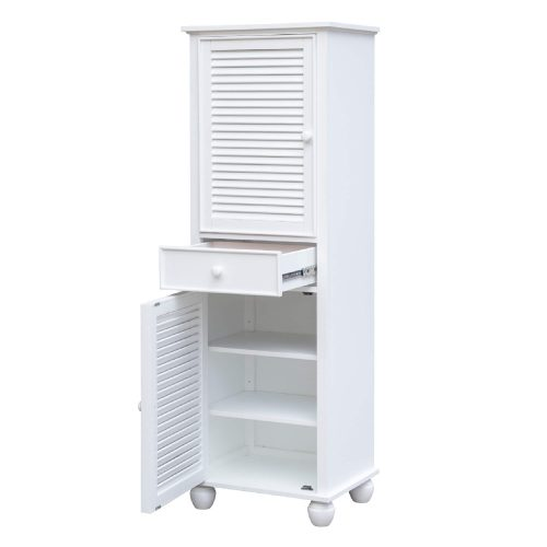 Tall Cabinet with Drawers - door and drawer open - CF-1145-0150