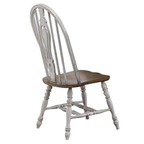 Country Grove Windsor keyhole chairs with Oak seat - back view DLU-CG-124S-GO-2