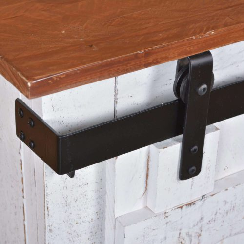 Console - Rustic White - Forged iron accent hardware - HH-2130-060