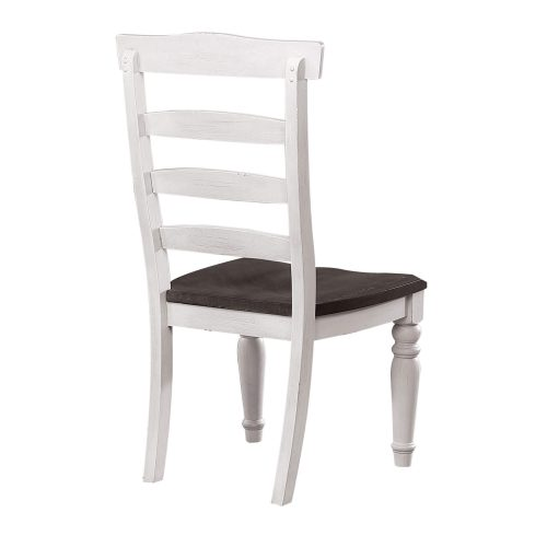 French Chic - Ladder Back Chair - Back view - DLU-FC1432W-2