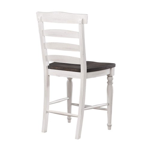 French Chic Collection Ladder Back Stool - Back View - DLU-FC1432-24W