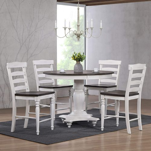 French Chic Collection Ladder Back Stool - Table setting - DLU-FC1432-24W