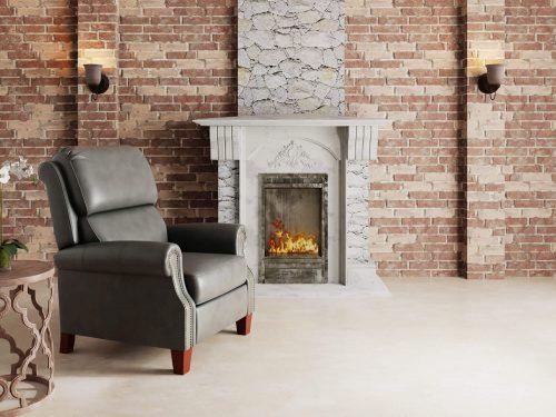 Alexander Pushback Recliner - Dark Gray - Comfortable room setting -SY-689-86-9307-97