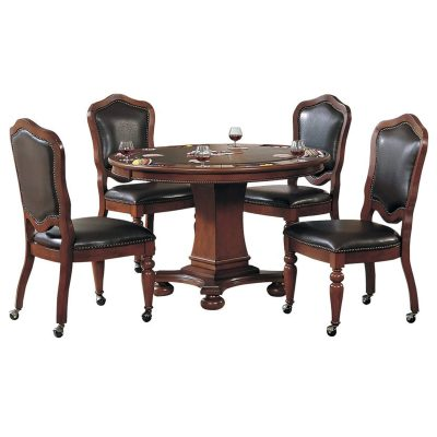 Bellagio Collection - Flip top dining and game table with four chairs - CR-87148-5PC