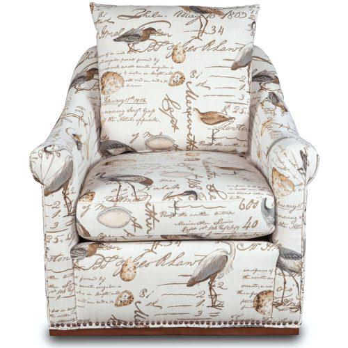 Birdscript Swivel Chair - Front view - SU-1593-93-854825