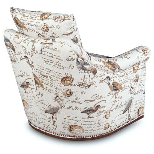 Birdscript Swivel Chair - Three quarter view from back - SU-1593-93-854825