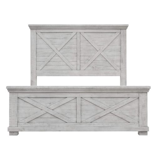 Crossing Barn Collection - Queen size bed frame - front view - CF-4101-0786-Q5P
