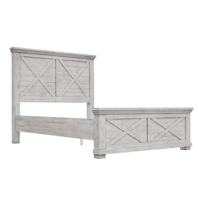Crossing Barn Collection - Queen size bed frame - three-quarter view - CF-4101-0786-Q5P