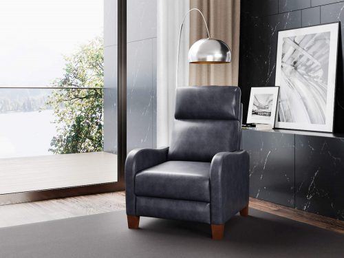 Dana Pushback Recliner shown in Navy - comfortable room setting - SY-1005-86-9102-48