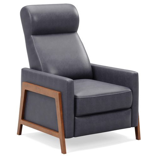 Edge Pushback Recliner - shown in Slate Gray -Three quarter view - SY-1357-86-9102-94