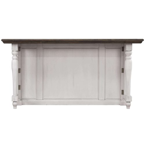 French Chic Collection - Drop Leaf Kitchen Island - front view - DLU-FC1016-IT