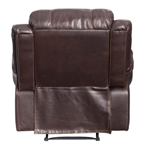 Glorious Collection - Reclining Chair in brown - back view - SU-GL-U9521R