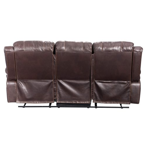 Glorious Collection - Reclining Sofa in brown - back view - SU-GL-U9521S