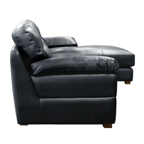 Jericho Right Facing Chaise Sofa in Black - Side view - SU-JH3780-2P