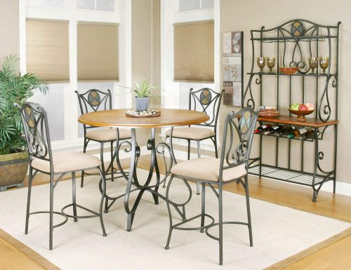 Kitchen setting with Bakers Rack - matching table and chairs CR-W2597-85